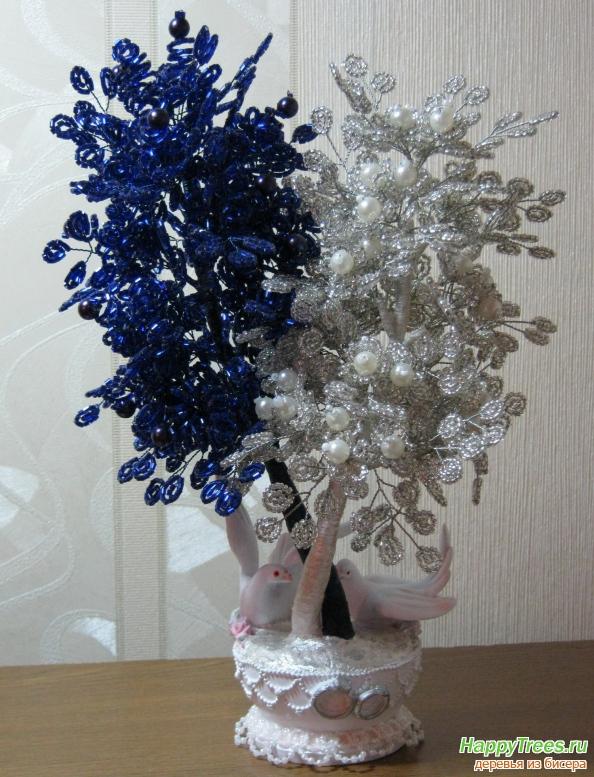 как сделать кровать из подручных материалов.  Схема дерево бисера - Как быстро.  Дерево сакуры из бисера схемы.